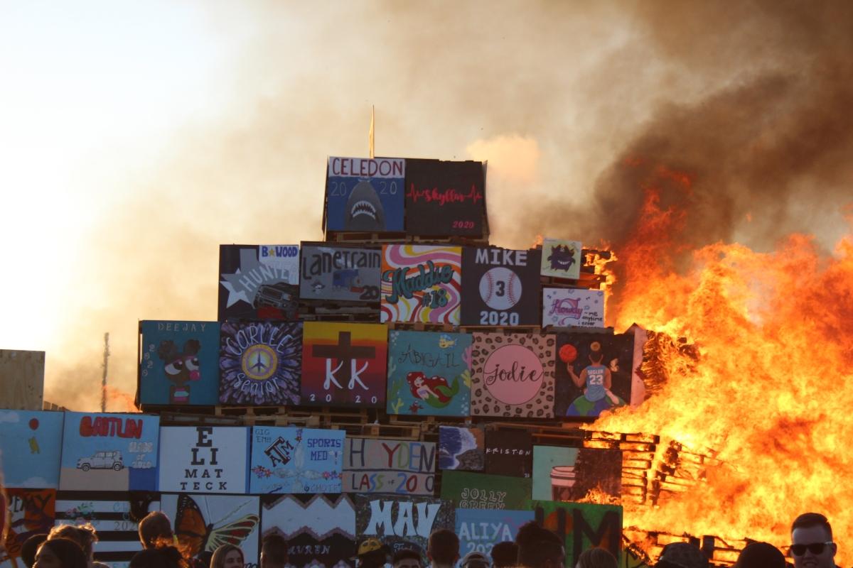 Biggest Bonfire Burns intoHistory