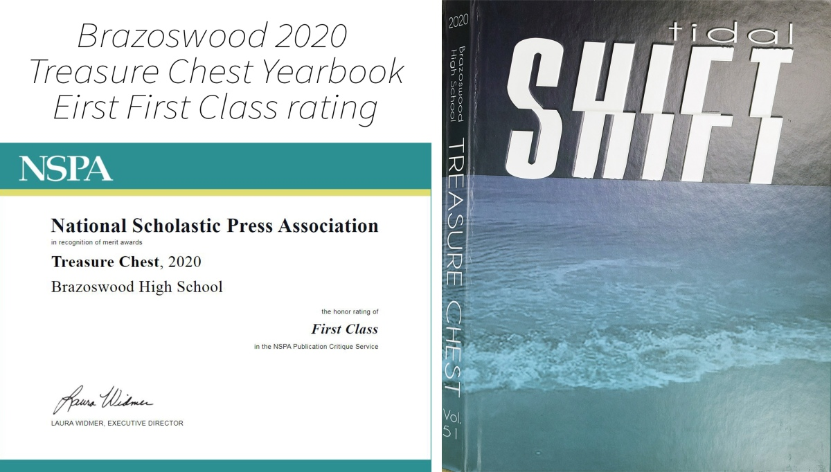 Treasure Chest Yearbook Receives First Class Rating fromNSPA